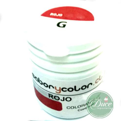 Colorante Gel Rojo Sabor y Color, 20 grs.