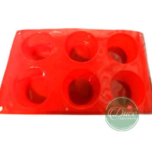 Molde Silicona Cupcakes, 6 unidades