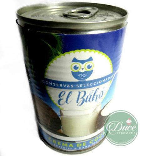Crema de Coco El Búho, 24x400 Gr.