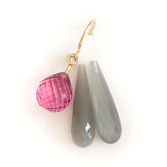 pink turmalin, grå månesten, anborede brioletter, dråber, grå, pink, anborede dråber, dråber i par, brioletter i par, alle slags sten, Slanke sten, buttede sten, Lange sten, korte sten, Flade sten, runde sten, Glatte sten, faceterede sten, få slebet sten, sten efter eget design