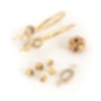 750 guld, guldbeads, guldperler, ørekroge, brun diamant, diamant, halvfabrikata, udføres i sterling, halvfabrikata i sterling, sterling sølv 925, guld 750, guld, indfatninger, Simple, ørekroge, specialopgaver, farveprøver, vareprøver påhalvfabrikata, øsken, rosensleben,