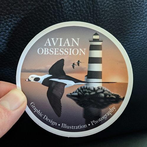 Avian Obsession Sticker
