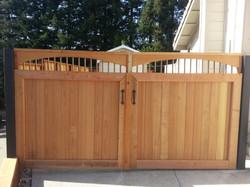 custom gate with copper lattice
