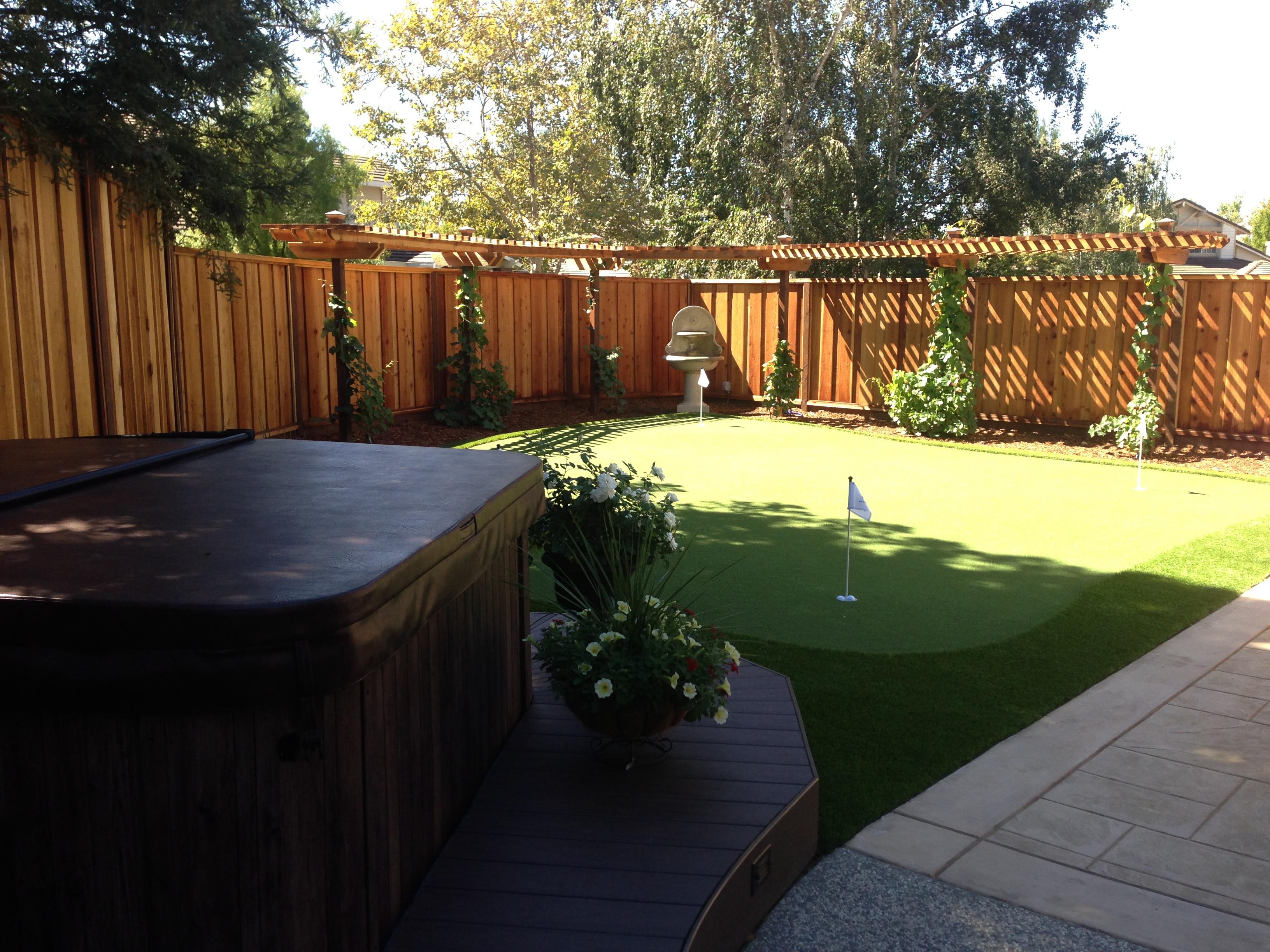 Redwood Fence and Trellis