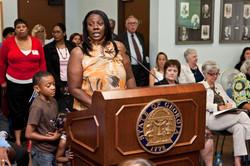 Alicia Boyd at Public Hearing