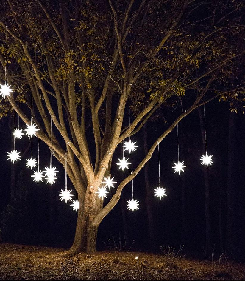 Christmas Tree with holiday stars in Atlanta