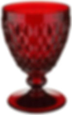 Ruby Red Wine Goblet