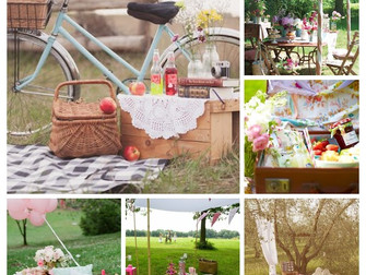 A outdoor celebration with a vintage picnic.....