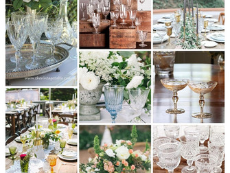 A subtle elegance with vintage glassware...