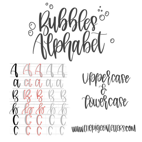 Bubbles Alphabet | Uppercase & Lowercase| Practice Sheet Pack ...