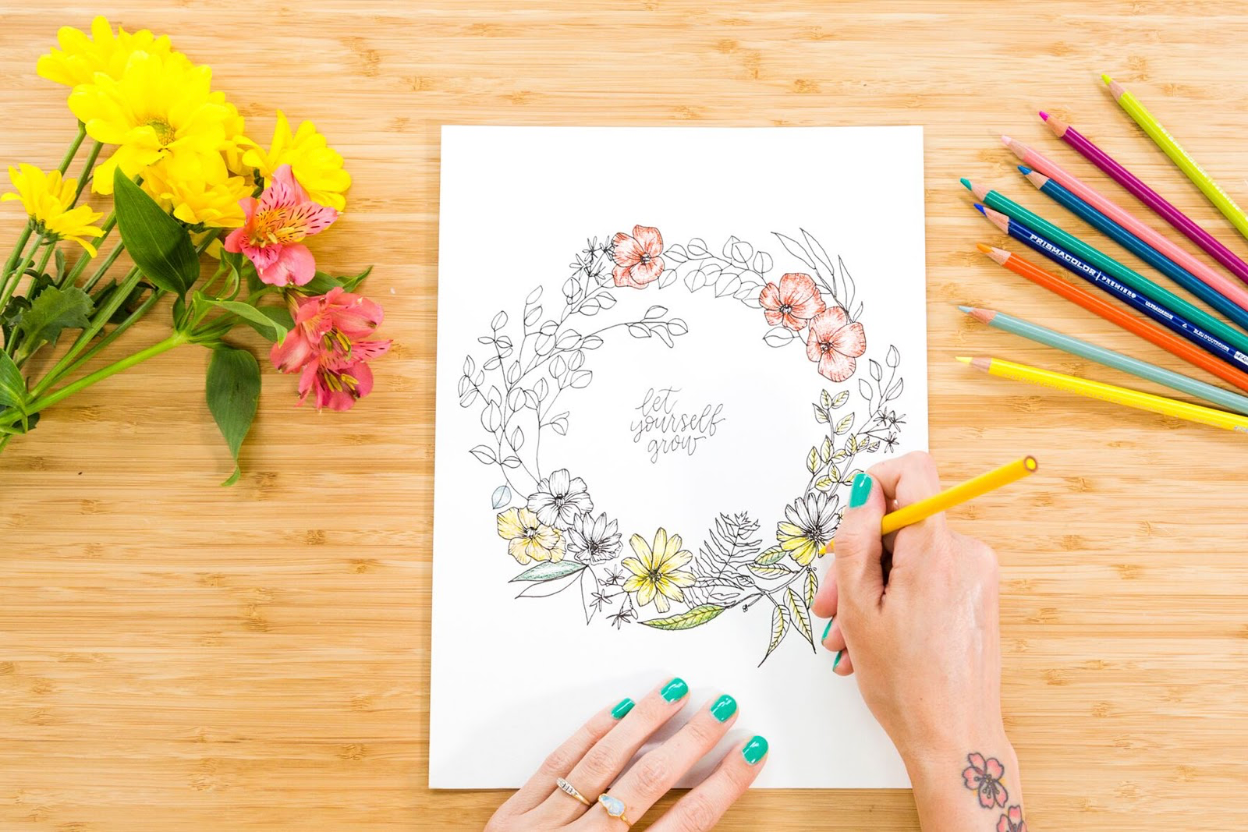 Line Drawing Florals