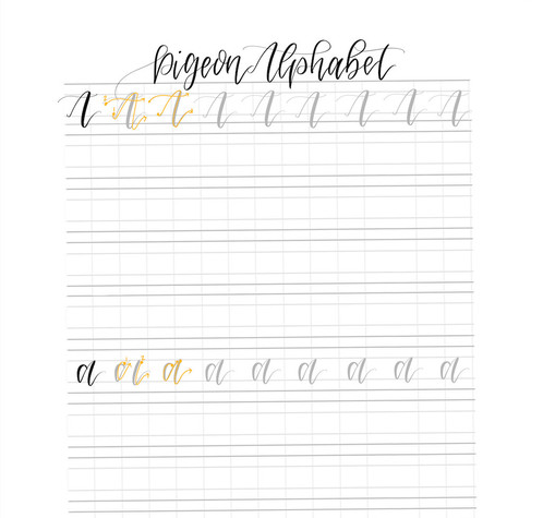 Pigeon Alphabet | Hand Lettering Practice Sheets | Uppercase and ...
