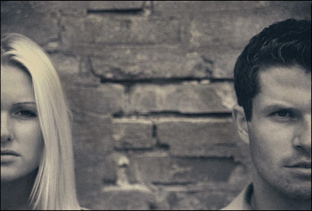 No smiles couple