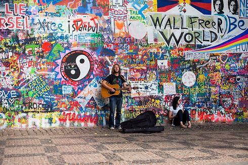 Prague, John Lennon Wall, Tourist Attraction, Little Quarter, Kampa Park