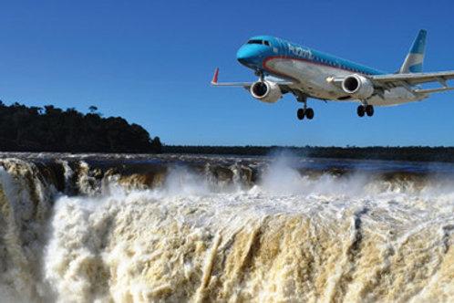 Traslado Aeropuerto - Hotel - Aeropuerto + Cataratas Argentinas y Brasileras