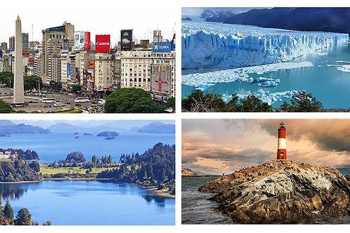 Buenos Aires - Bariloche - Calafate & Ushuaia 9 days