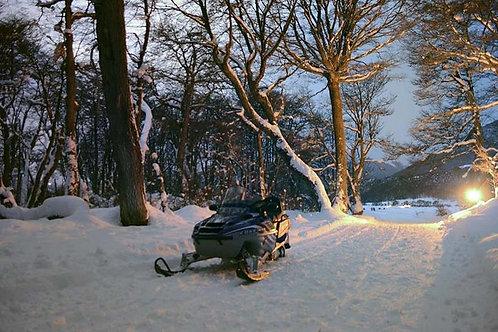 שלג ואש - האסקי מזחלת ולנד רובר עם מסלולים - אושואיה