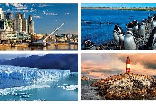 Buenos Aires - Puerto Madryn - Bariloche - Calafate & Ushuaia 11 days