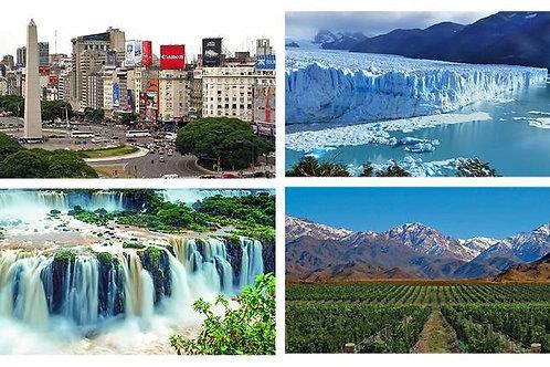 Bariloche - Calafate - Buenos Aires - Iguazú - Mendoza 12 días