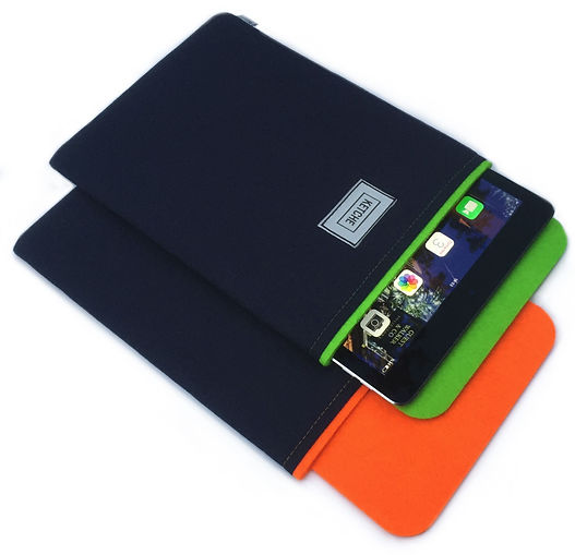 iPad için turuncu ve yeşil renkli iPad kılıflrı