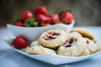 Strawberry Thumbprints with Almond and Lavender