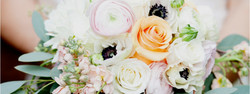 Briadal Bouquet with White Anemones, Blush Pink Ranunculus, and Peach Roses, Event Planning and Desi