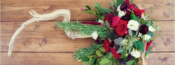 Red and Dark Purple Centerpiece made in a Grape Branch created by EightTree Street, Event Planning a