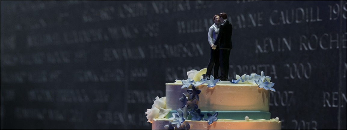 Same Sex Wedding Cake, Event Planning and Design by Katie Rose LLC, Washington DC, Events, Wine, Con