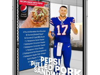 Pepsi and Josh Allen give gameday meal tips