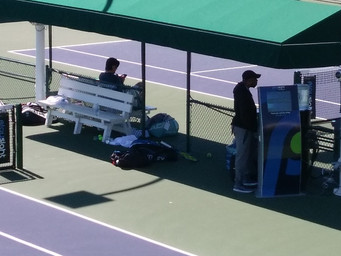 Pros try PlaySight at Indian Wells