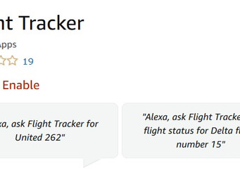'Alexa' will give you your flight status
