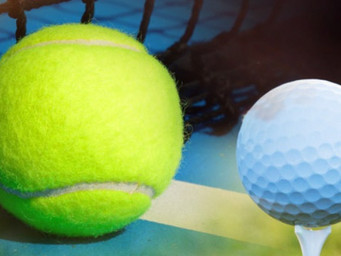 Golf and tennis equipment sales showing growth