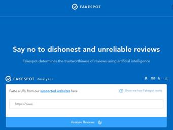 Cut through the Amazon reviews with Fakespot.com