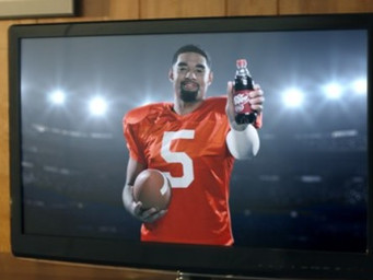College quarterback enters into partnership with Dr. Pepper