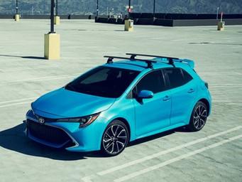 The new high tech Toyota Carolla Hatchback