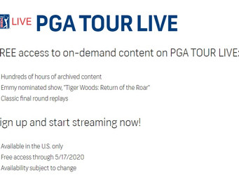 PGA TOUR LIVE free access until PGA Tour resumes