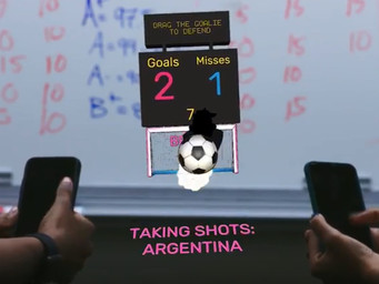 Krikey is head-to-head soccer that compliments World Cup action