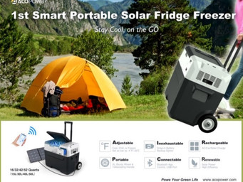 Solar fridge introduced at CES