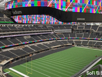 Samsung scores a touchdown with SoFi Stadium's 70,000 square-foot first-of-its-kind 4K LED videoboar