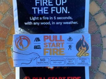 Perfect for campers, Pull Start Fire means no matches needed