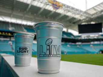 Cups at Super Bowl to be recyclable