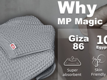 MP Magic Bath Towels are ultra-absorbent, fast-drying