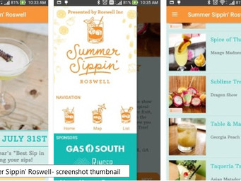 Roswell Inc.'s 'Summer Sippin' app is live