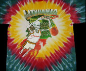 Re-release of the Lithuanian Basketball Tie Dye tshirts