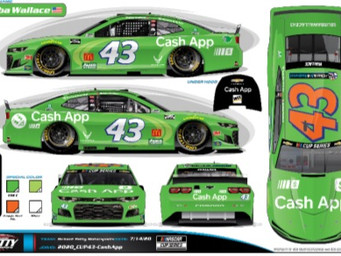 Cash App makes its way into NASCAR