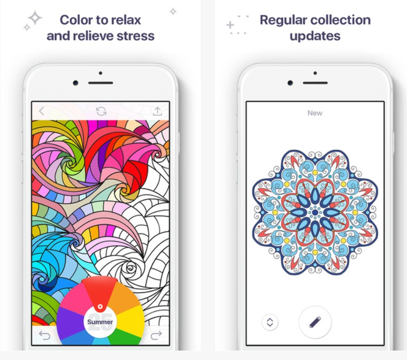 Coloring Book for Me app lets adults and kids get creative