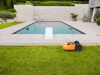 Celebrate cutting your lawn with the WORX Landroid robotic mower
