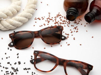 Recycled bottles turned into sunglasses by GlassesUSA.com