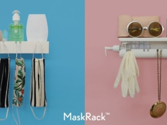 Clean and store your face mask with MaskRack