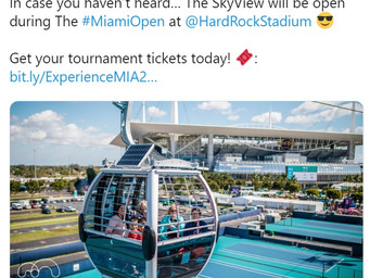 Miami Open to give a SkyView of the tennis